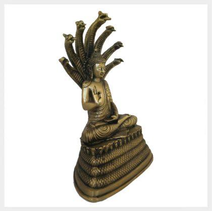 Nag Buddha Messing 5,8kg Seitenansicht