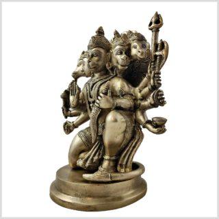 Hanuman Panchamukhi Messing Seite links