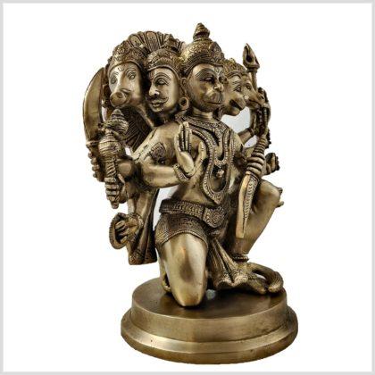 Hanuman Panchamukhi Messing Seite rechts