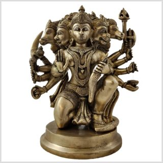 Hanuman Panchamukhi Messing vorne