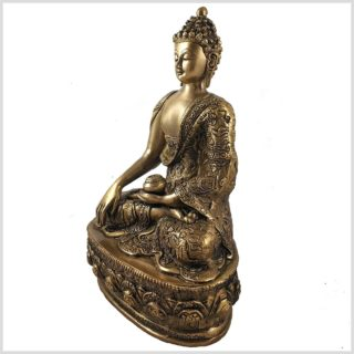 Erdender Buddha 33cm 4kg Seitenansicht Links