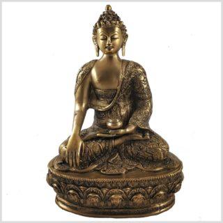 Erdender Buddha 33cm 4kg Vorderansicht