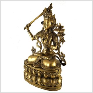 Manjushri Monju Messing Seitenansicht links