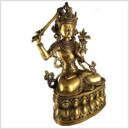 Manjushri Monju Messing Seitenansicht rechts