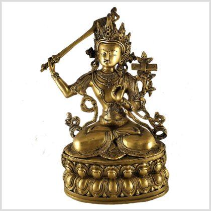 Manjushri Monju Messing Vorderseite