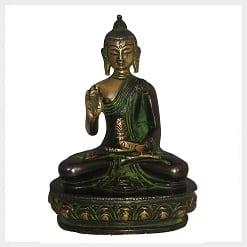 Segnender Buddha 12cm Grünantik Vorschaubild