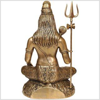 Sitzender Shiva 16kg Messing Abhaya Mudra Rücken