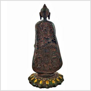 Stehender Buddha rotgold 2,5kg Hinten