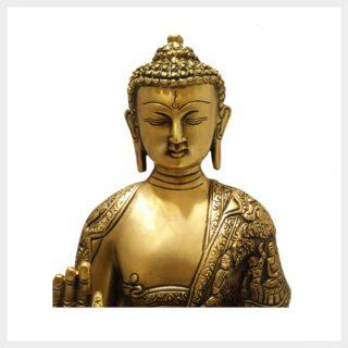 Lehrender Buddha 6,1kg Messing Gesicht