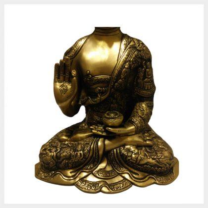 Lehrender Buddha 6,1kg Messing Hand