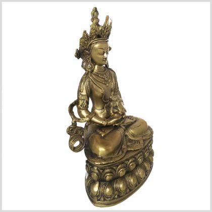 Adibuddha 36cm Messing Seitenansicht