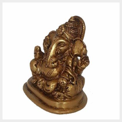 Ganesha sitzend klein Seitenansicht Rechts