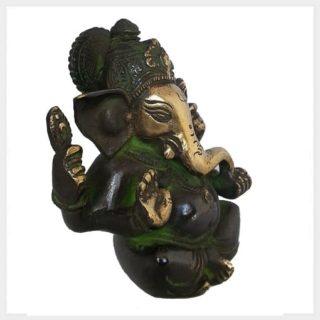 Ganesha 760g grüngold Seitenansicht
