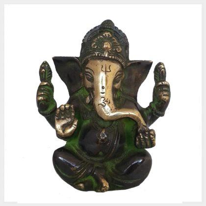 Ganesha 760g grüngold vorne