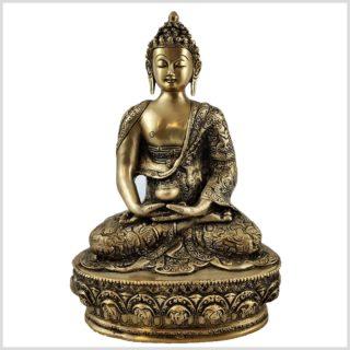 Erleuchtete Buddha Messing 33cm Vorderansicht