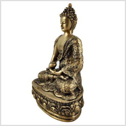 Erleuchtete Buddha Messing 33cm Seite Links