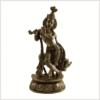 Krishna mit Nandi Messing Vorderansicht