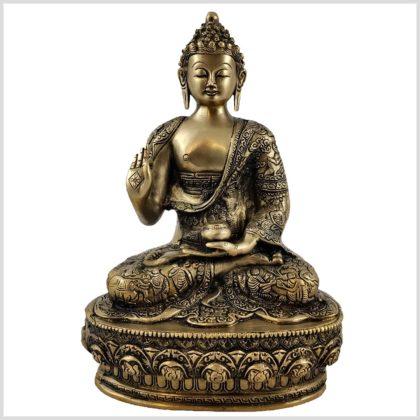 Lehrender Buddha 33cm Messing Vorderansicht