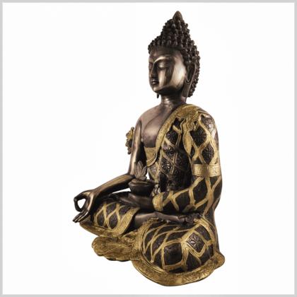 Medizinbuddha 9,6kg Messing Kupfer Seite links