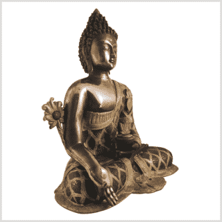 Medizinbuddha 9,6kg Messing Kupfer Seite rechts