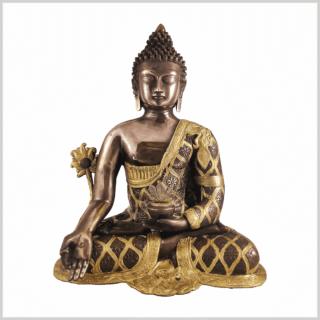 Medizinbuddha 9,6kg Messing Kupfer Vorderansicht