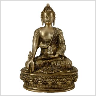 Medizinbuddha Life of Buddha 33cm 4KG Frontansicht
