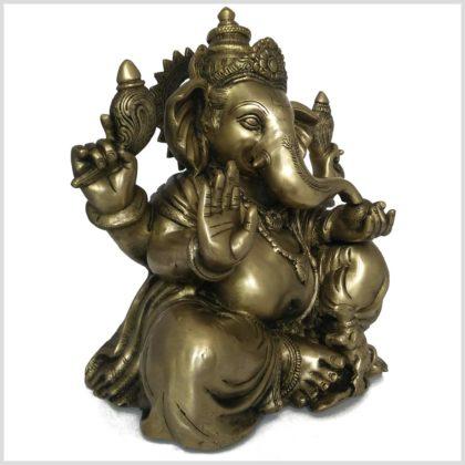 Großer Ganesha Messing 35,5cm 11kg Seitenansicht rechts
