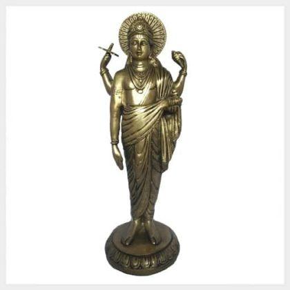 Dhanvantari Messing 32cm Vorderansicht
