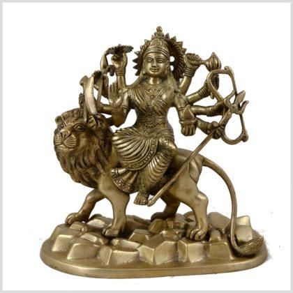 Durga aus Messing 22cm Vorderansicht