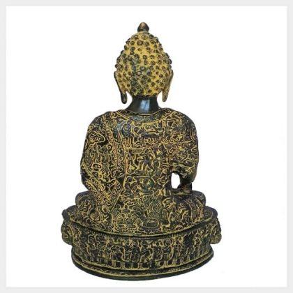 Medizinbuddha 33cm Messing gelbgrün Hinten