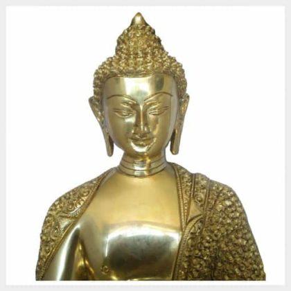 Lehrender Buddha Diamantenbuddha 10,3kg Vorderansicht Gesicht