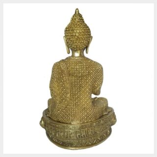 Lehrender Buddha Diamantenbuddha 10,3kg Rücken