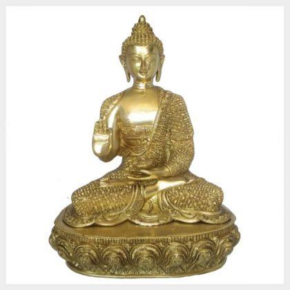 Lehrender Buddha Diamantenbuddha 10,3kg Vorderansicht