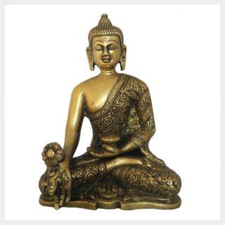 Medizinbuddha Messing 1,7kg Vorderansicht