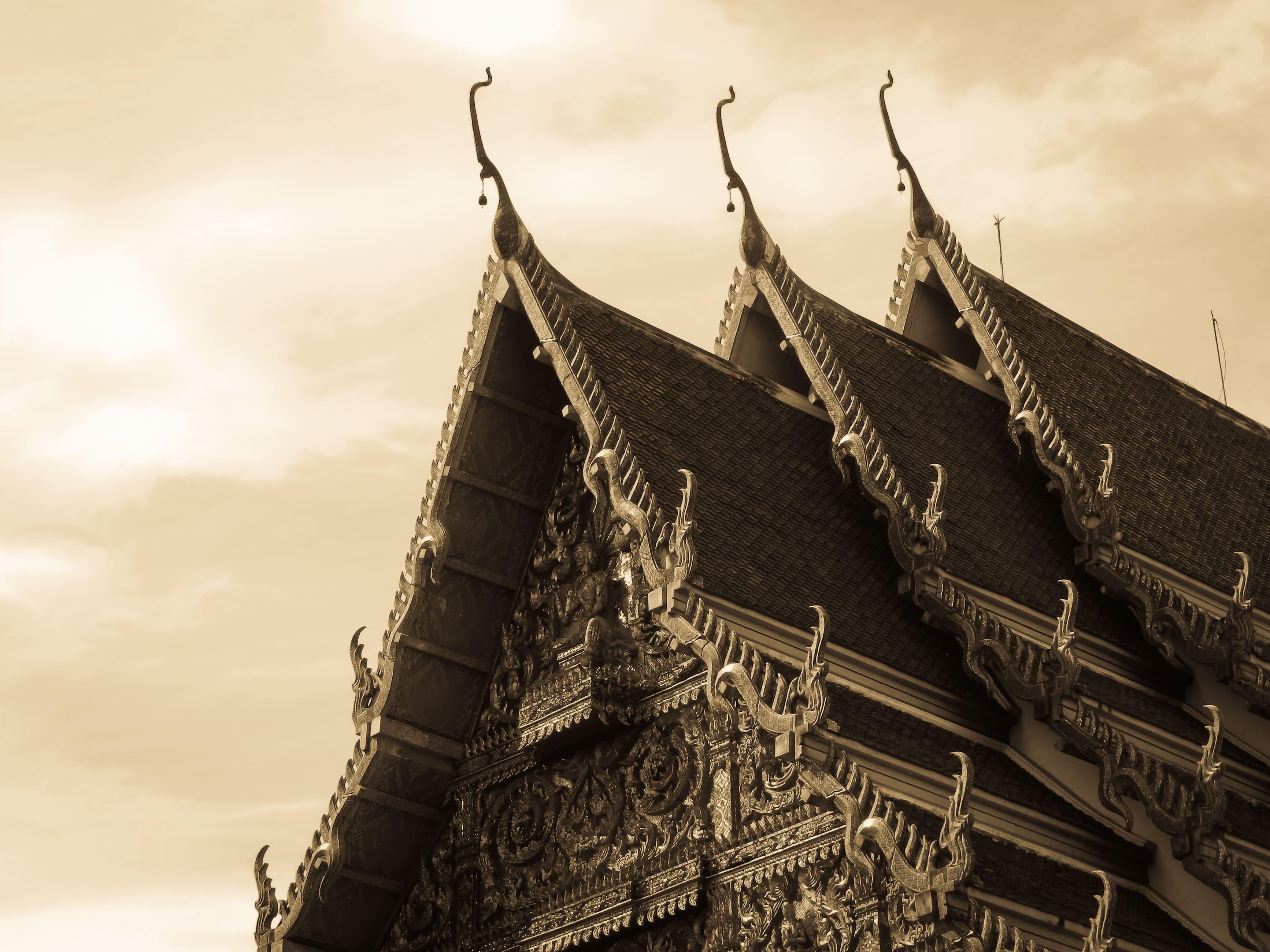 Thailand Bangkok Pagoden Dach Ansicht