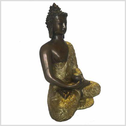 Erleuchtete Buddha Dragon Messing Kupfer Seitenansicht rechts