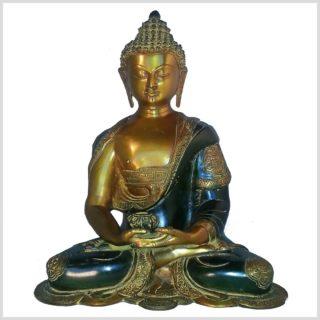 Erleuchteter Buddha 6kg Asthamangala gelbgrün Vorne
