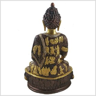 Medizinbuddha 33cm Tricoloure Hinten
