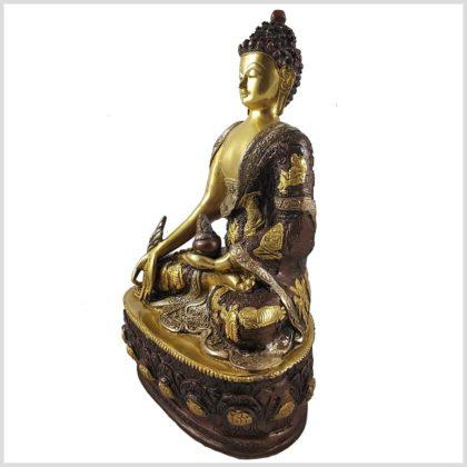 Medizinbuddha 33cm Tricoloure Seitenansicht Links