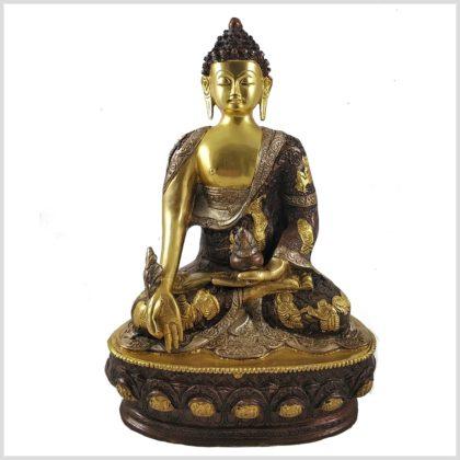 Medizinbuddha 33cm Tricoloure Vorderansicht