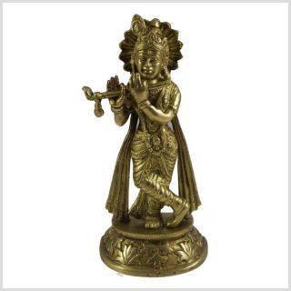 Krishna 21cm Messing Vorderansicht