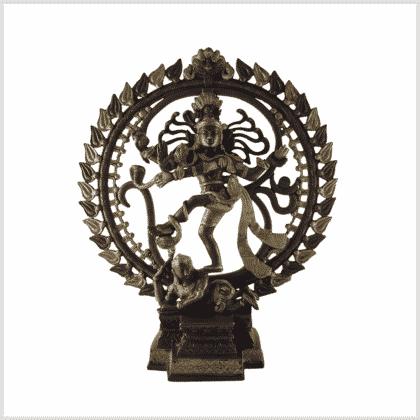 Tanzender Shiva Messing Kupfer 6,6kg Frontansicht