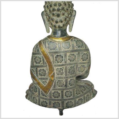 Erleuchteter Buddha 38cm Nepalantik rücken