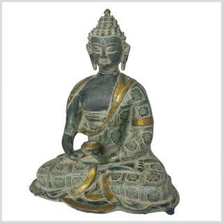 Erleuchteter Buddha 38cm Nepalantik Seitenansicht