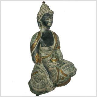 Medizinbuddha 38cm Nepalantik Seitenansicht