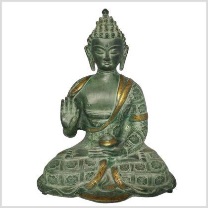 Segnender Buddha 38cm Nepalantik vorne