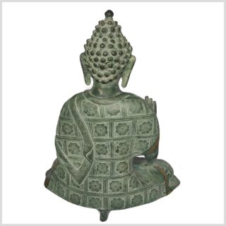 Segnender Buddha 38cm Nepalantik Rücken