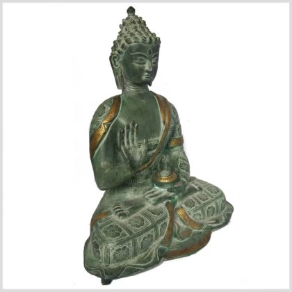 Segnender Buddha 38cm Nepalantik Seitenansicht