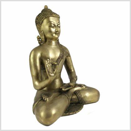Lehrender Buddha 6,1kg Messing Seite Rechts