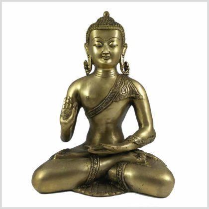 Lehrender Buddha 6,1kg Messing Vorderansicht